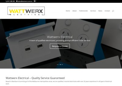 Web Design for Electrician in Blackburn