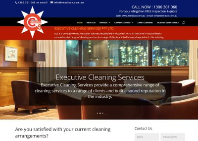 Web Design for Cleaning Services in Melbourne