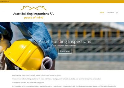 Web Design for Asset Building Inspections